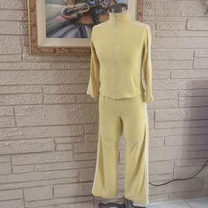 Boston Proper Racer-Stripe Knit Warm-Up Suit